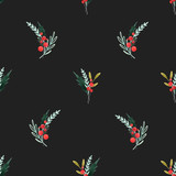 Watercolor floral pattern - 242975227