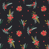 Watercolor floral pattern - 242975267