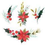 Watercolor floral set - 242975291