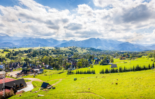 Tatry Mountains and Zakopane city surroundings