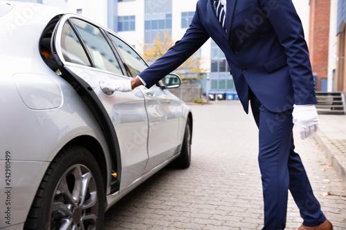 Fridge magnet Valet's Hand Opening Car Door
