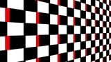 Abstract black, white and red cubes pattern motion background. - 242985207