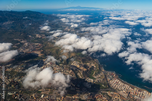 Foto Murales Canary islands gran canaria flight scene plane window
