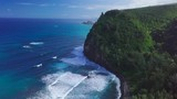 Aerial view of the North Coast of the Big Island, area near Pololu valley, Hawaii - 242995026