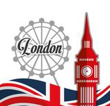 Fototapeta Big Ben - London landmarks design  © Jemastock