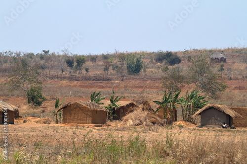 Bauerhof und Dörfer in Malawi