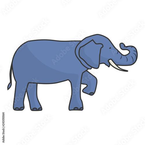 isolated elephant draw