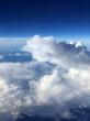 cloudscape view, sky, airplane, - 243010495