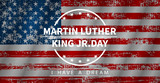 Martin Luther King Day, vector illustration in flat style - 243013003