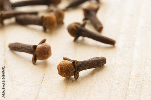 Dried cloves on the table