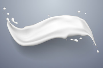 White splash of milk