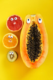 funny fruits and vegetables - 243024089