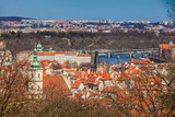 Manes Bridge and Prague old town seen from the Petrin hill - 243026036