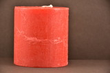 candle on a black background, - 243027622