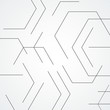 Abstract line shapes and pattern hexagon. Minimalistic design background - 243028408