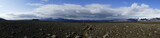Panorama of a mountain plateau on the way from Fimmvörduhals mountain path to Godaland, Iceland