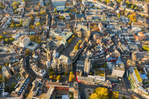 mata magnetyczna Aachen, Germany from above