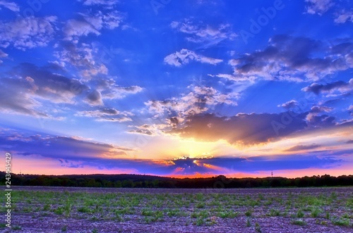 fototapeta na ścianę Beautiful sunset landscape with stunning colors in the sky