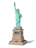 Statue of Liberty in New York City, USA isolated on white - 243046670