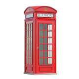 Red phone booth. London, british and english symbol. - 243047072