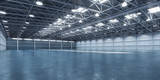 Empty warehouse or storehouse. - 243047608