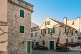 Historic center of the seaside resort town Vodice in Croatia - 243054834