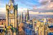 Old town Edinburgh and Edinburgh castle - 243056491