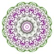 Green, purple color Anti-stress therapy pattern. Mandala. For design backgrounds. Vector illustration.