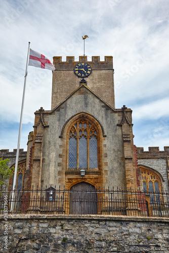 Leinwanddruck Bild St Michael the Archangel Church. Lyme Regis. West Dorset. England