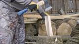 Man chopping small firewood - 243082276