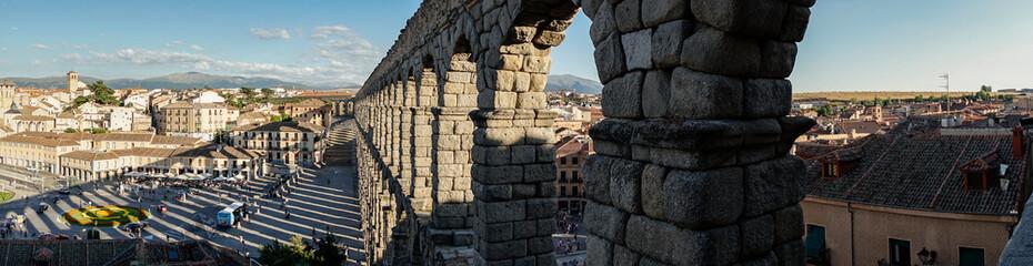 Panoramic view of Segovia and its Aqueduct. © javiindy