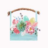 Watercolor floral vector composition - 243086610