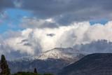 Winter season, snowy mountain. Turkey / Izmir / Menemen Dumanlidag Mountain - 243095683