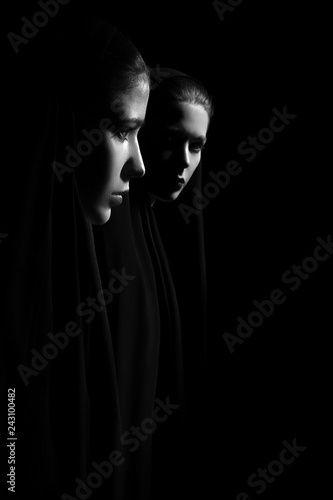 nuns in dark
