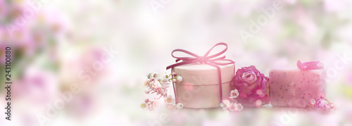 Leinwandbild Motiv Natural skincare organic soap