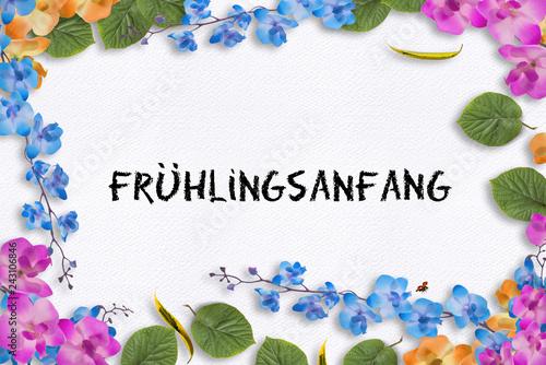 Leinwandbild Motiv Frühlingsanfang