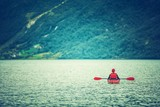 Active Day in a Kayak - 243107811