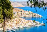 beautiful view on Symi island, Greece - 243111408