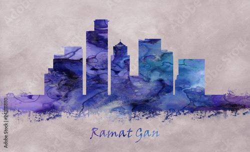 Ramat Gan City in Israel, skyline - 243111880
