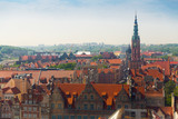 Aerial view of Gdansk with Town Hall