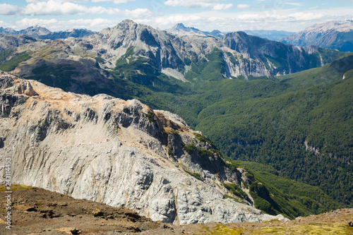 Mountain Tronador and glaciers of Alerce and Castano Overa - 243114453