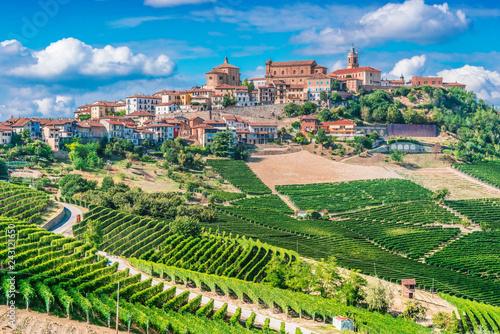 Leinwandbild Motiv View of La Morra in the Province of Cuneo, Piedmont, Italy