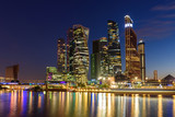 Modern Skyscrapers of Moscow City Business Center in the evening - 243123496