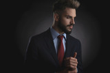 portrait of attractive smart casual man looking to side - 243131094