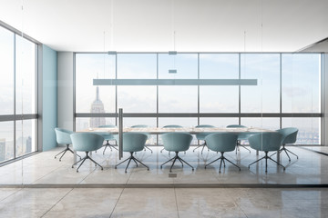 Modern meeting room with NY view