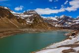Mountain Lago di Ritom lake at spring
