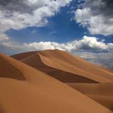 Big sand dunes in desert - 243138812