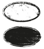 Grunge oval stamps  - 243143281