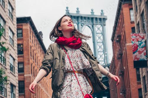 mata magnetyczna Beautiful girl in New York City