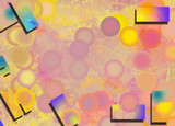 Abstract background in pink yellow soft colors - 243154892